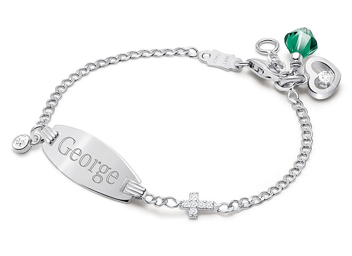 Engraved Id Bracelet For Boys