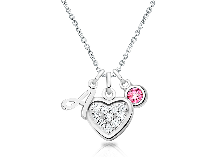 Friends\u2026 Sister Mum Personalized Necklace with Initial and Birthstone Love Shopping and sports for Girl